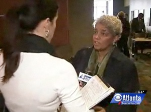 No city car for the mayor?  Wendy Saltzman with Shirley Franklin