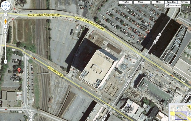 Dead center:  The Richard B. Russell Federal Building