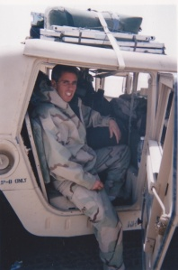 No legroom:  Our ride into Iraq.