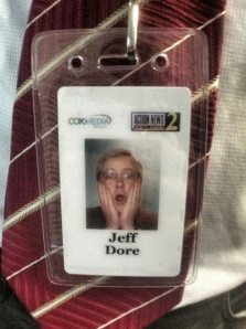 Jeff Dore's workplace ID badge