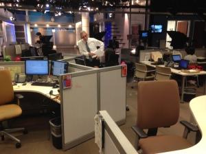 The grovel begins:  Doug at Marcita's desk