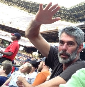 A face in the crowd:  TC at Turner Field in July 2014