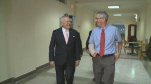Gov. Deal and I are chuckling about my unfortunate need to wear short sleeved dress shirts