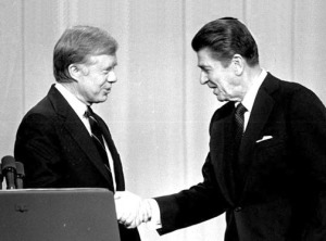Jimmy Carter, Ronald Reagan at their only debate